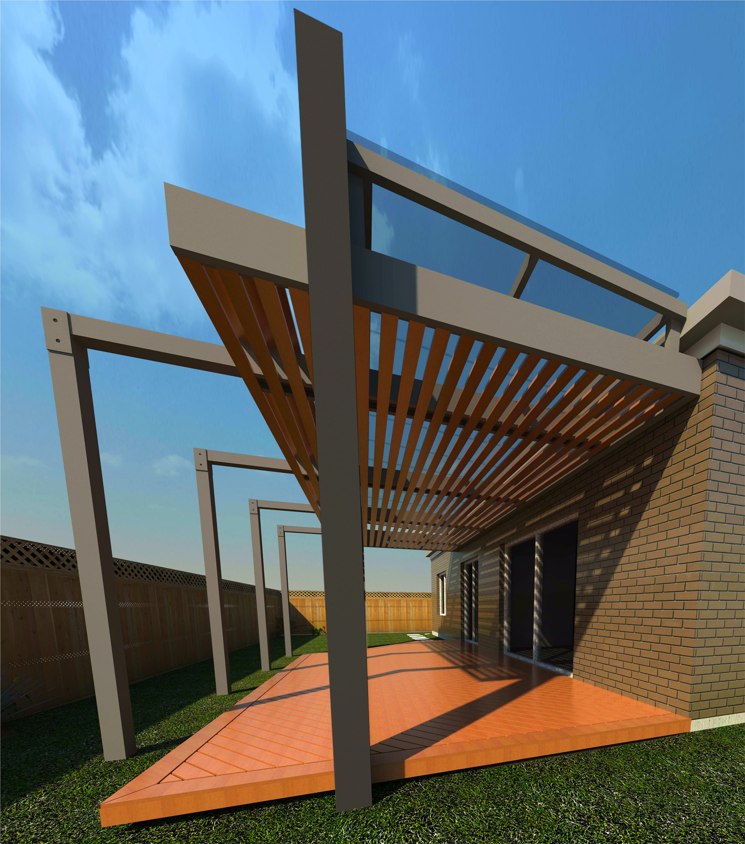 Pergola Elevation Designs: JB Construction Services PTY LTD